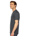 Asphalt MADE IN USA Unisex Fine Jersey Short-Sleeve V-Neck as seen from the sleeveright