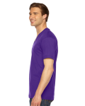 Purple MADE IN USA Unisex Fine Jersey Short-Sleeve V-Neck as seen from the sleeveright