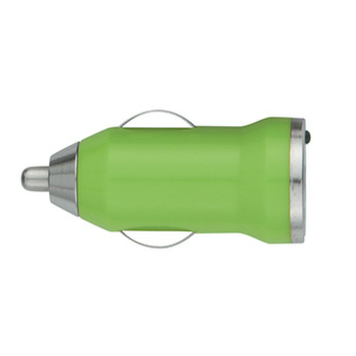 Lime Green On-The-Go Car Charger as seen from the front