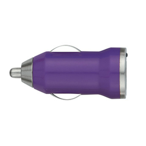 Purple On-The-Go Car Charger as seen from the front