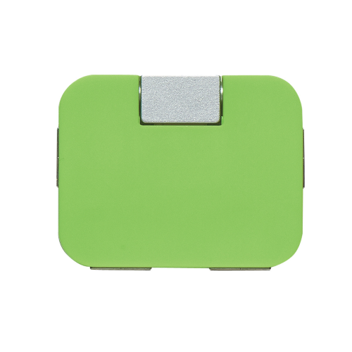 Lime Green 4-Port USB Hub as seen from the front