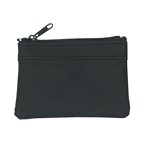 Black Zippered Coin Pouch as seen from the front