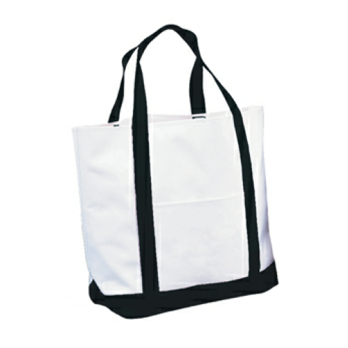 Black Tote Bag as seen from the front