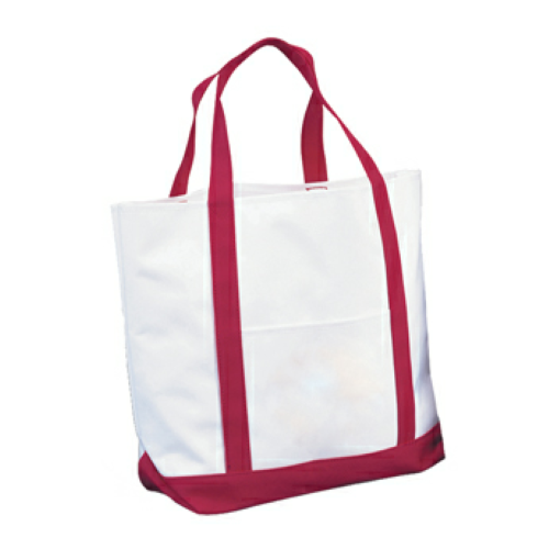 Red Tote Bag as seen from the front
