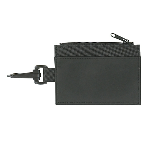 Black Pocket Black Trim Id Holder as seen from the front