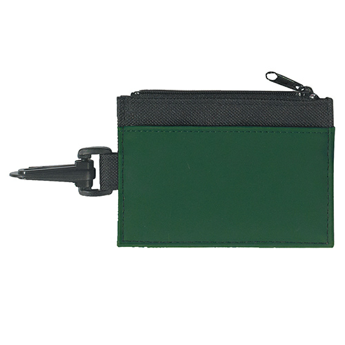 Black Pocket Forest Trim Id Holder as seen from the front