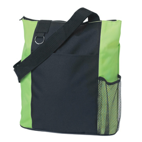 Lime Green Fun Tote Bag as seen from the front