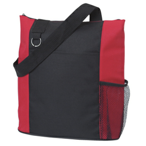 Red Fun Tote Bag as seen from the front