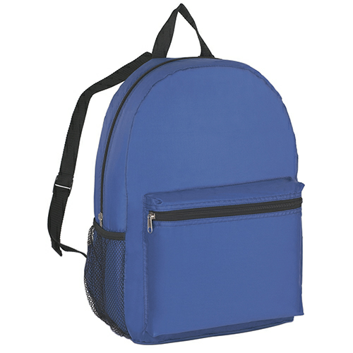Royal Blue Budget Backpack as seen from the front
