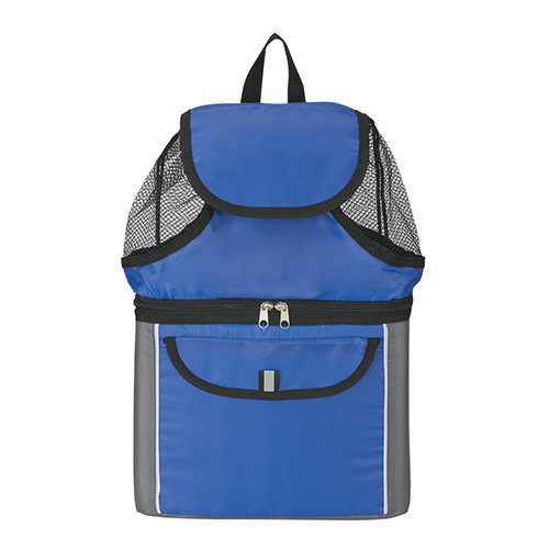 Royal Blue All-In-One Insulated Beach Backpack as seen from the front