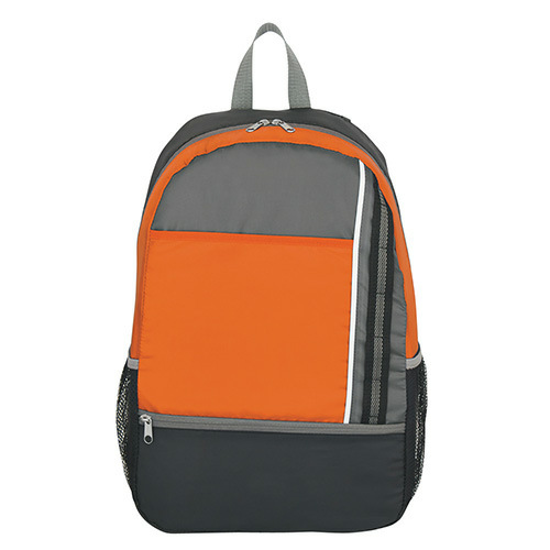 Orange Sport Backpack as seen from the front