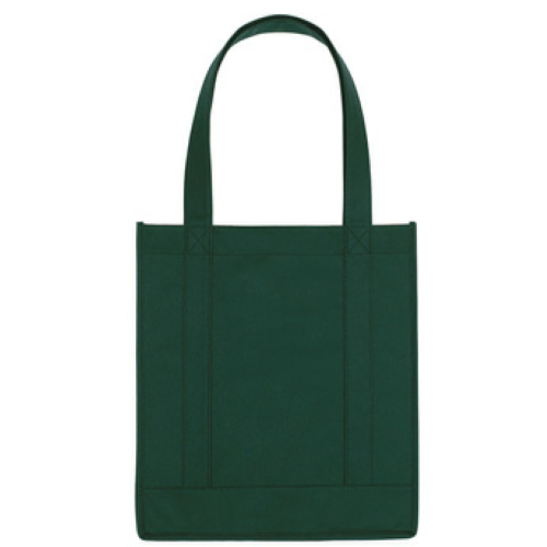 Forest Green Non-Woven Avenue Shopper Tote Bag as seen from the front