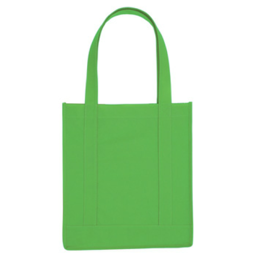 Kelly Green Non-Woven Avenue Shopper Tote Bag as seen from the front