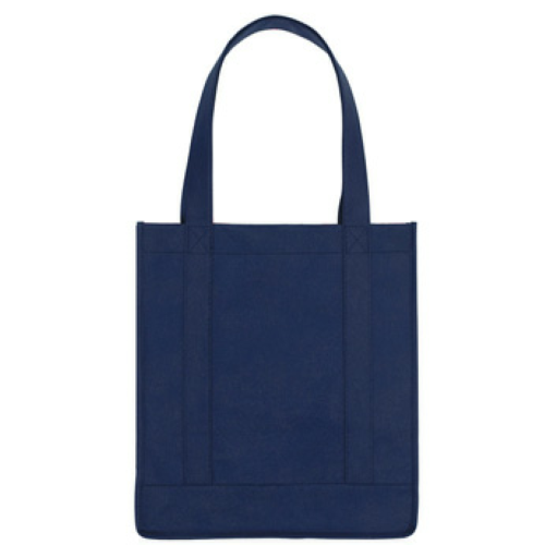 Navy Non-Woven Avenue Shopper Tote Bag as seen from the front