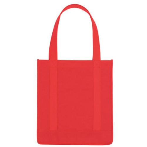Red Non-Woven Avenue Shopper Tote Bag as seen from the front