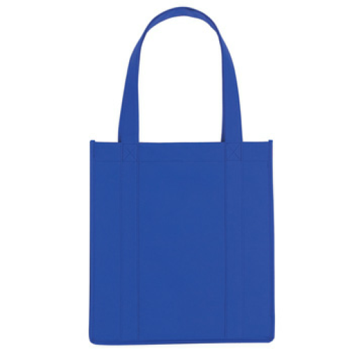 Royal Blue Non-Woven Avenue Shopper Tote Bag as seen from the front