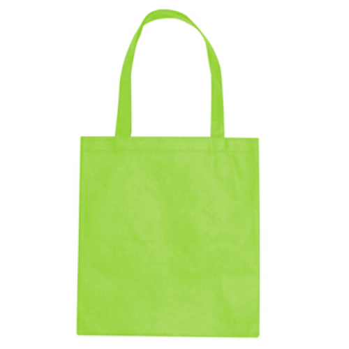 Lime Green Non-Woven Promotional Tote Bag as seen from the front