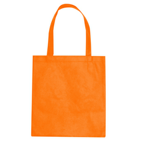 Orange Non-Woven Promotional Tote Bag as seen from the front