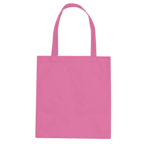 Pink Non-Woven Promotional Tote Bag as seen from the front