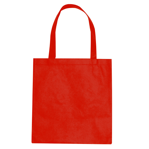 Red Non-Woven Promotional Tote Bag as seen from the front