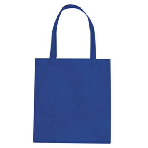 Royal Blue Non-Woven Promotional Tote Bag as seen from the front