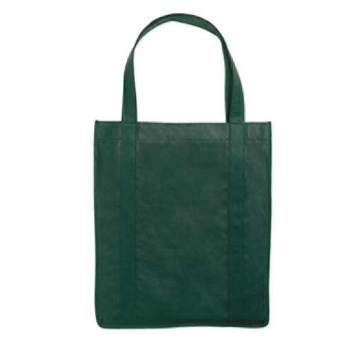 Forest Green Non-Woven Shopper Tote Bag as seen from the front