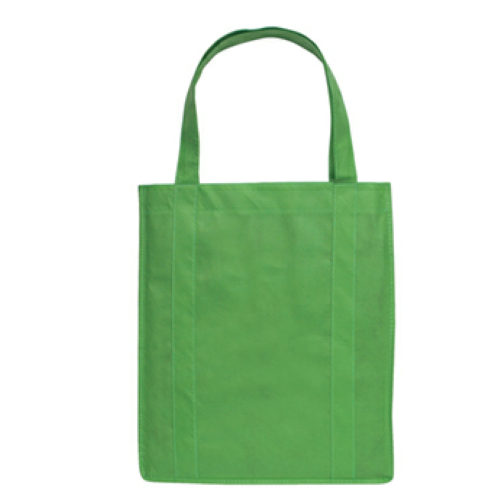 Kelly Green Non-Woven Shopper Tote Bag as seen from the front