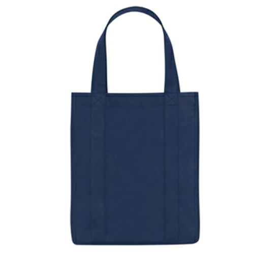 Navy Non-Woven Shopper Tote Bag as seen from the front
