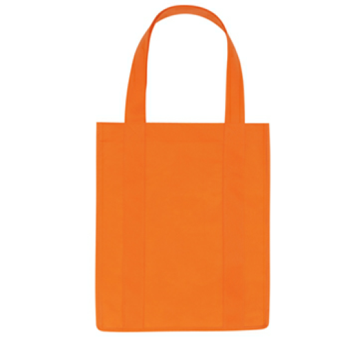 Orange Non-Woven Shopper Tote Bag as seen from the front