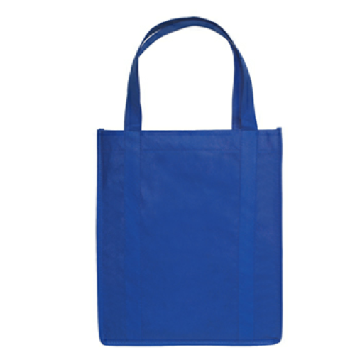 Royal Blue Non-Woven Shopper Tote Bag as seen from the front