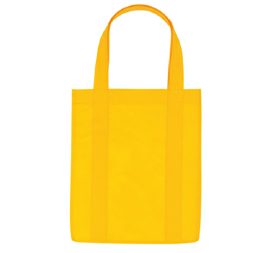 Yellow Non-Woven Shopper Tote Bag as seen from the front