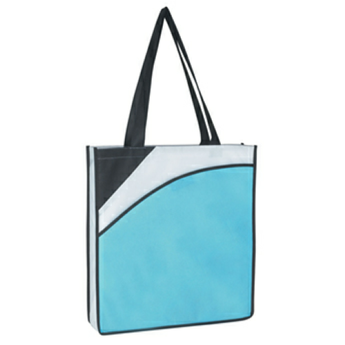 Carolina Blue Non-Woven Conference Tote Bag as seen from the front