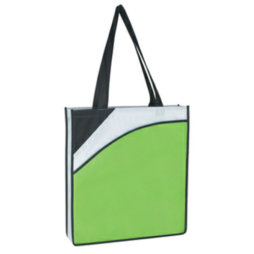 Lime Green Non-Woven Conference Tote Bag as seen from the front
