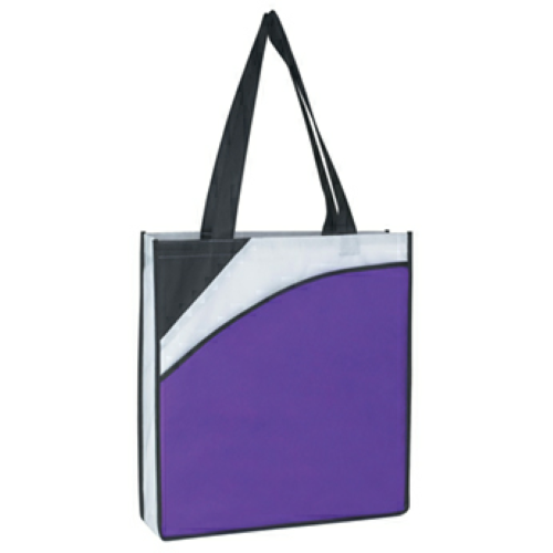 Purple Non-Woven Conference Tote Bag as seen from the front