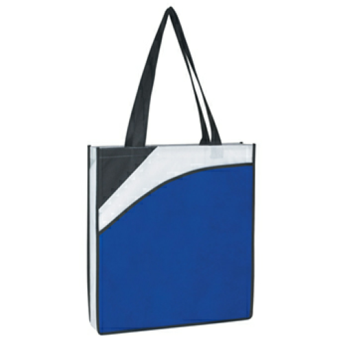 Royal Blue Non-Woven Conference Tote Bag as seen from the front
