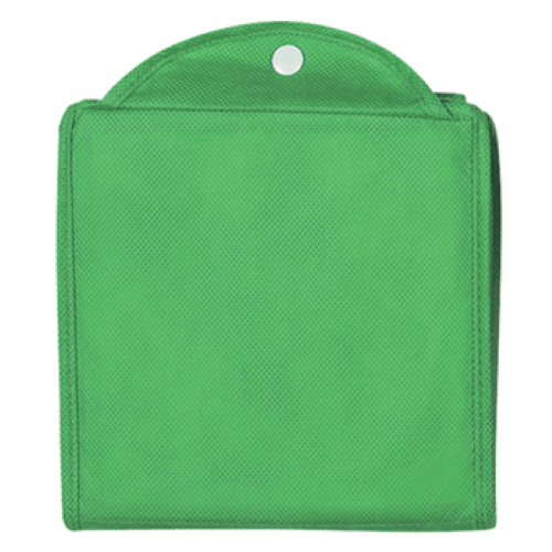 Kelly Green Non-Woven Foldable Shopper Tote as seen from the front