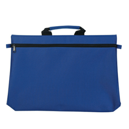 Royal Blue Document Bag as seen from the front