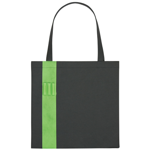 Lime Green Non-Woven Colony Tote as seen from the front