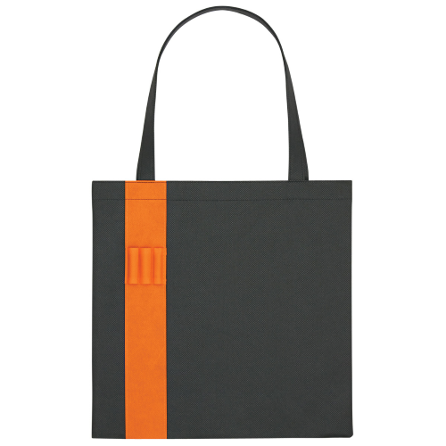 Orange Non-Woven Colony Tote as seen from the front