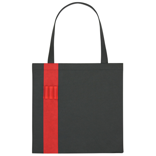 Red Non-Woven Colony Tote as seen from the front