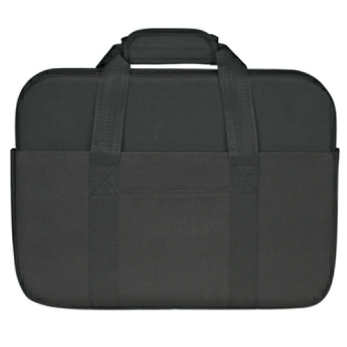 Black Neoprene Laptop Case as seen from the front
