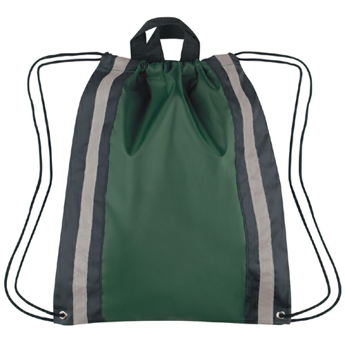 Forest Green Small Reflective Sports Pack as seen from the front