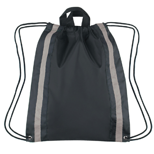 Black Large Reflective Sports Pack as seen from the front