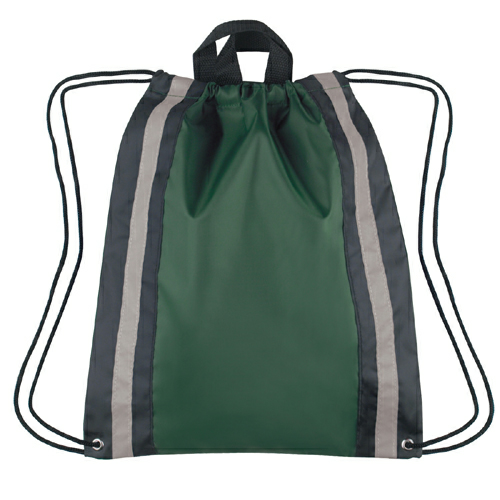 Forest Green Large Reflective Sports Pack as seen from the front