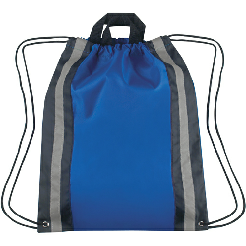 Royal Blue Large Reflective Sports Pack as seen from the front