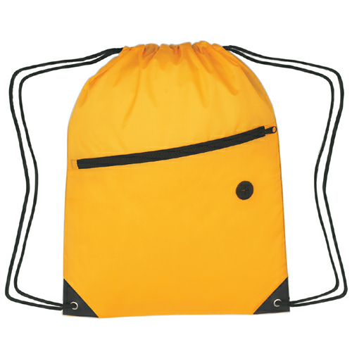Athletic Gold Sports Pack With Front Zipper as seen from the front