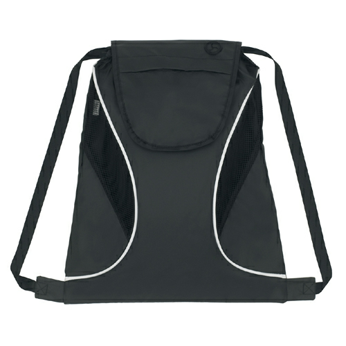 Black Sports Pack With Mesh Sides as seen from the front