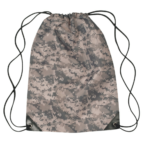 Digital Camouflage Small Sports Pack as seen from the front