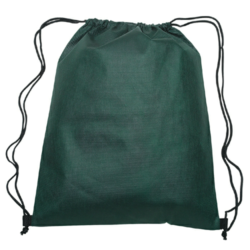 Forest Green Non-Woven Sports Pack as seen from the front