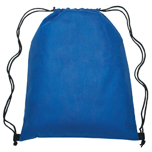 Royal Blue Non-Woven Sports Pack as seen from the front